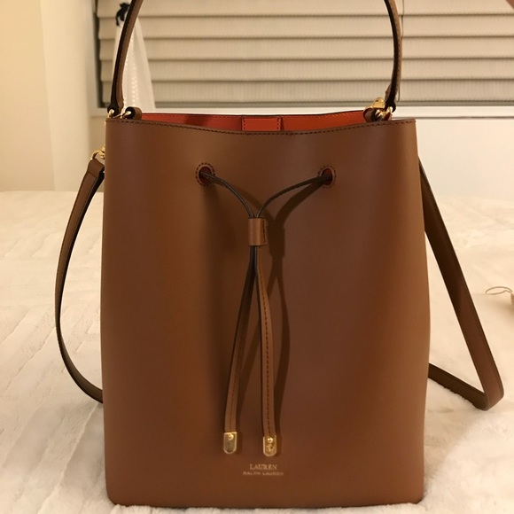 Lauren Ralph Lauren Handbags - Lauren Ralph Lauren Leather Debby Drawstring  Bag a067f38654c4c